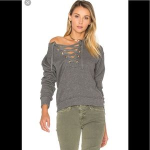 🎨 Mother lace up sweatshirt S